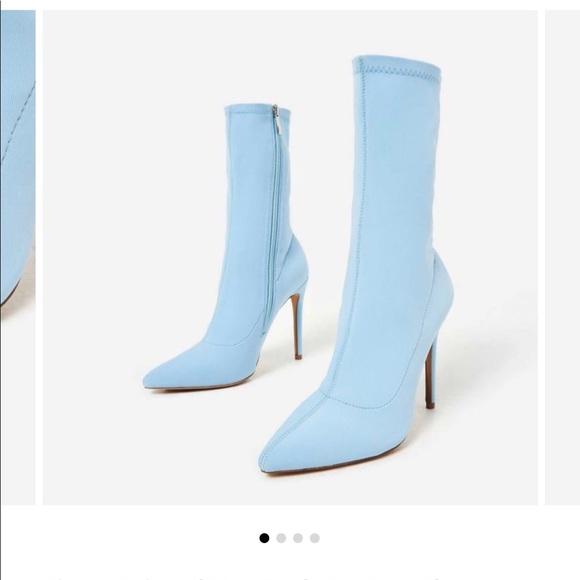 EGO Shoes | Baby Blue Sock Boots | Poshmark